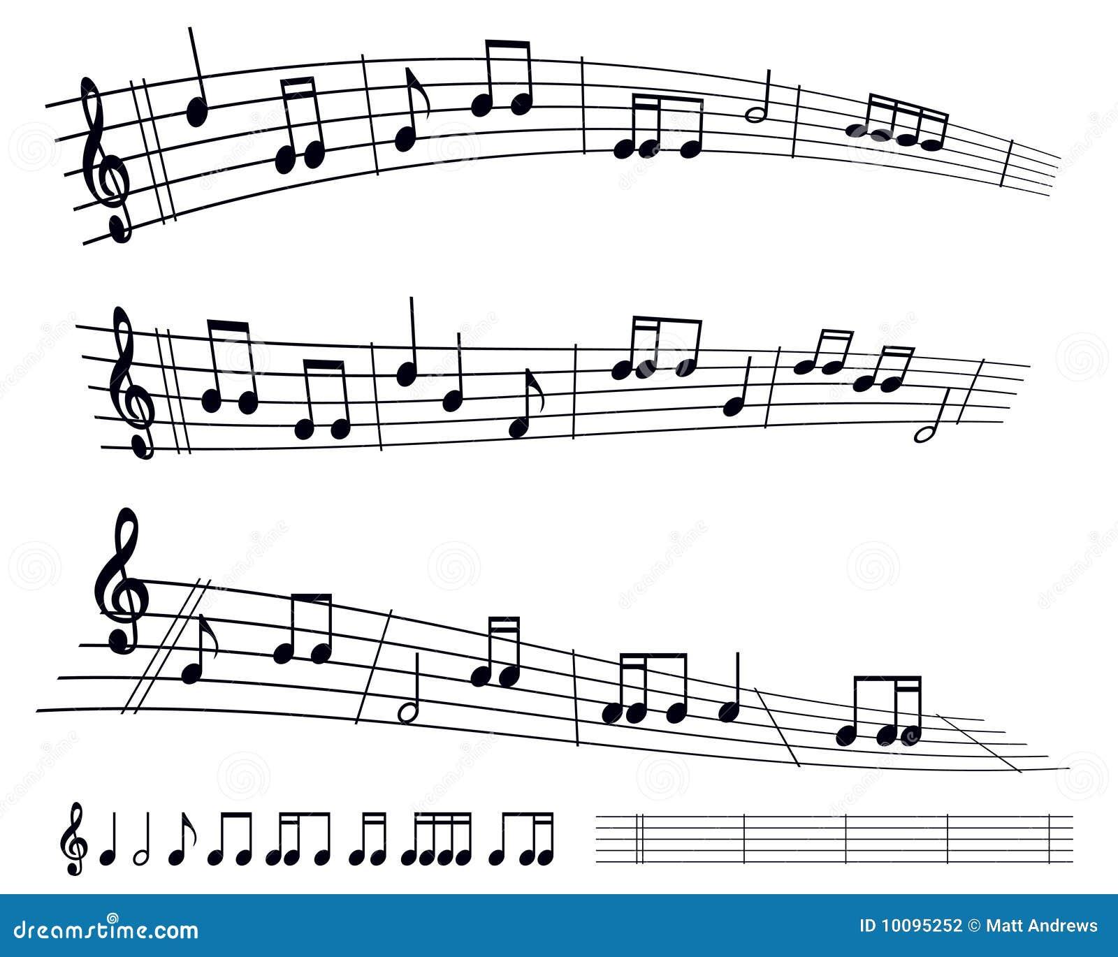 Sheet Music Stock Vector. Illustration Of Crotchet, Line