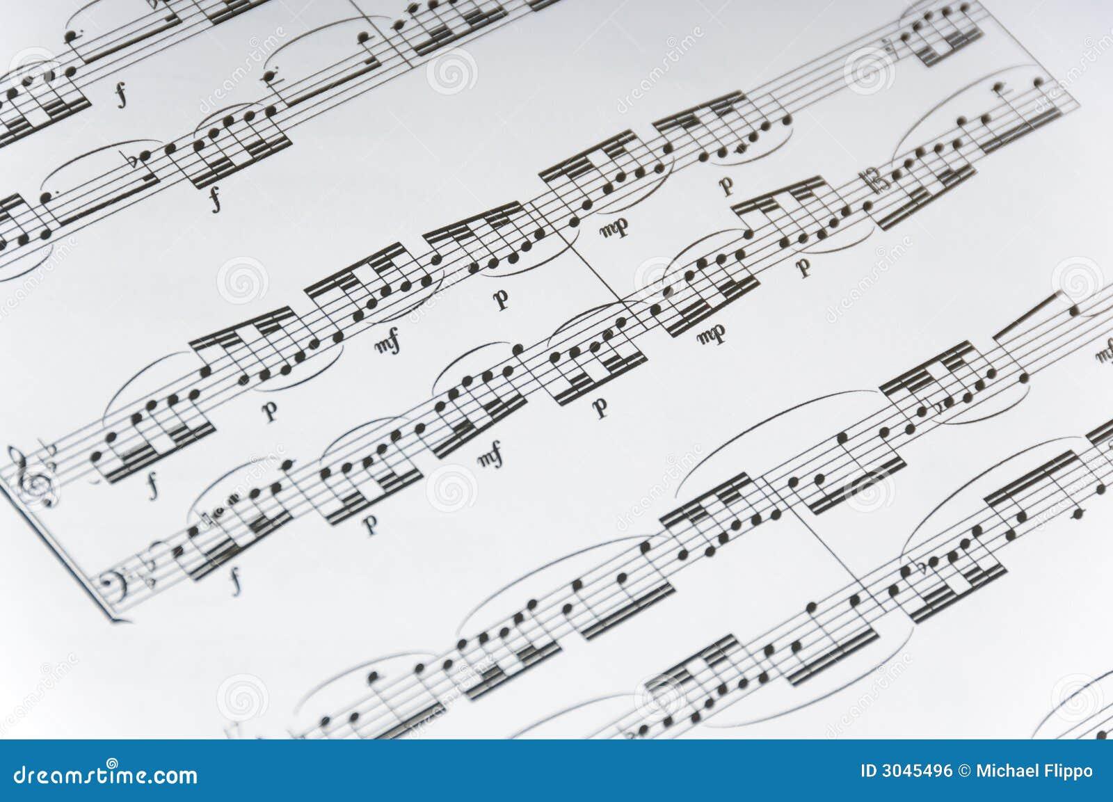 Sheet Music Background stock photo  Image of background