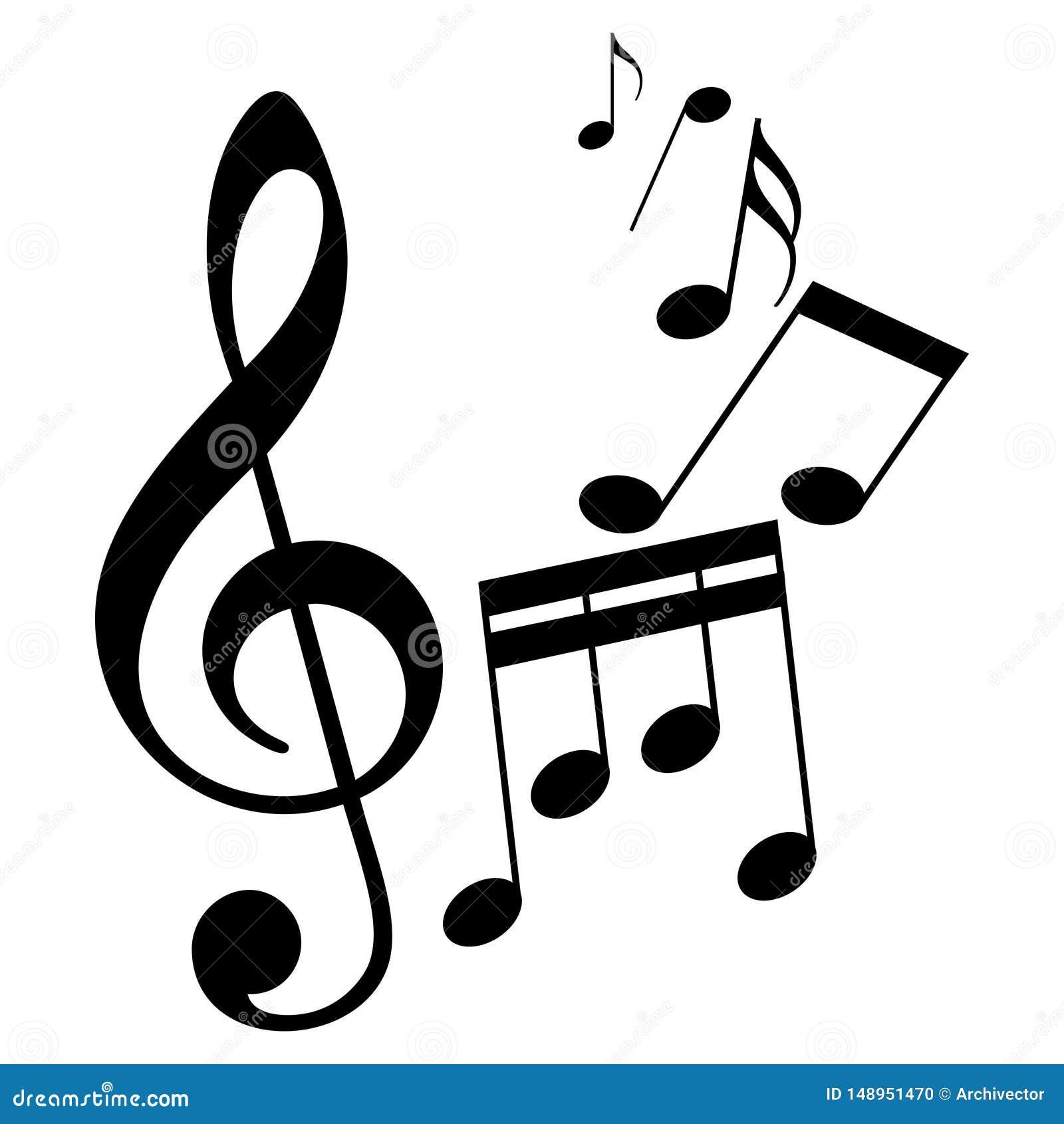 Sheet Music Signs As Melody Symbol Stock Vector