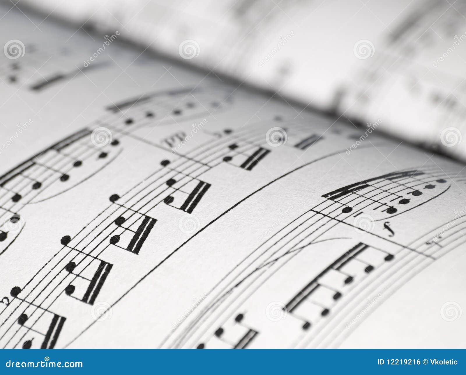 Sheet of music notes stock photo  Image of symphony, harmony - 12219216