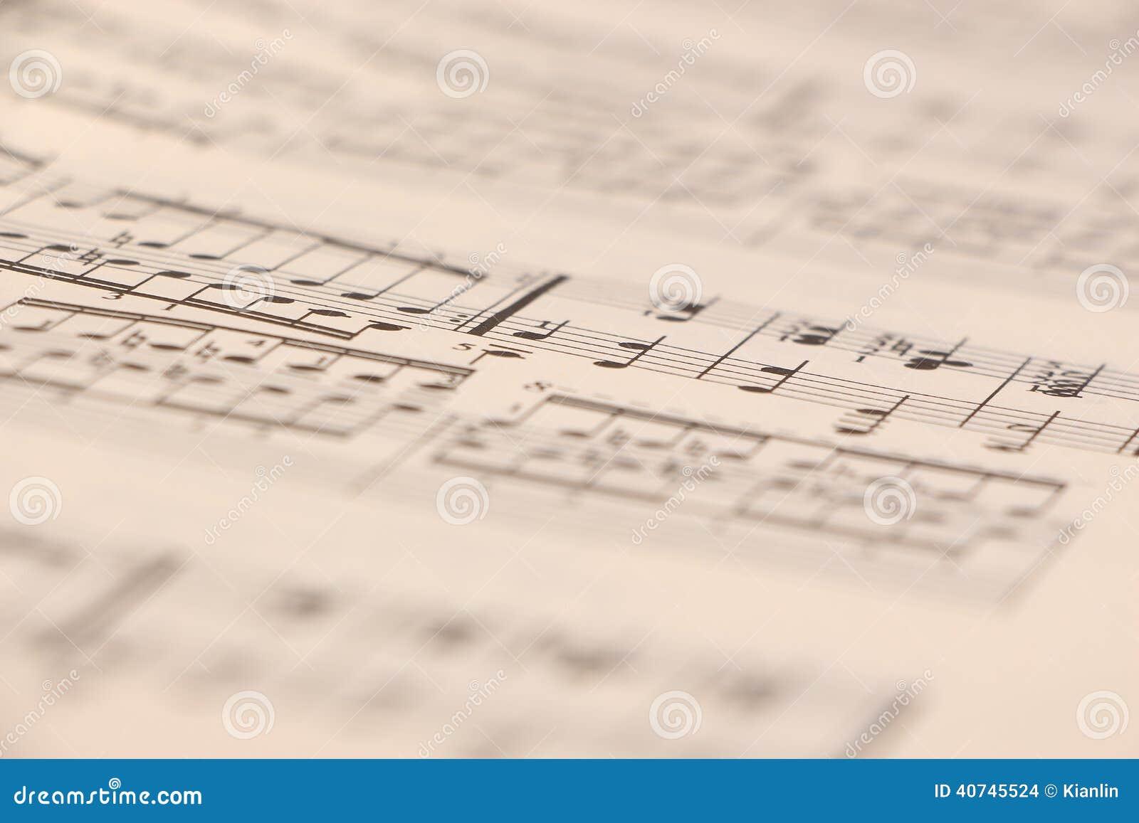 Sheet music stock photo  Image of focus, close, binary - 40745524