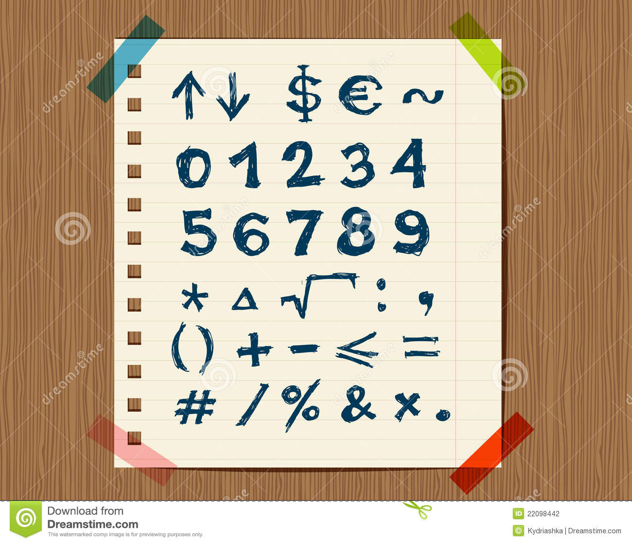 Sheet with sketch of math symbols for your design stock vector sheet with sketch of math symbols for your design biocorpaavc