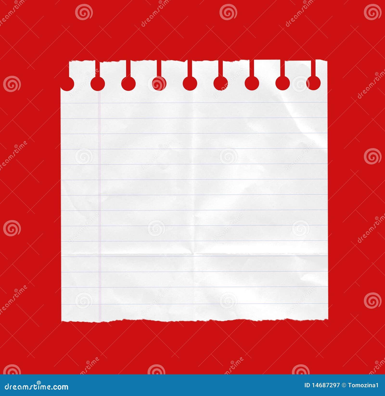 Sheet of white paper