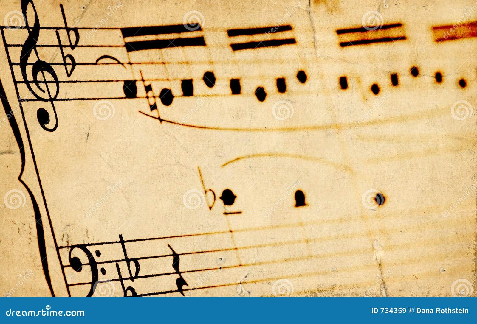 Sheetmusic âgé