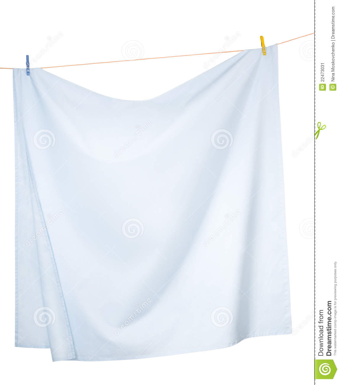 Sheets Hanging On A Rope Stock Image Image Of House