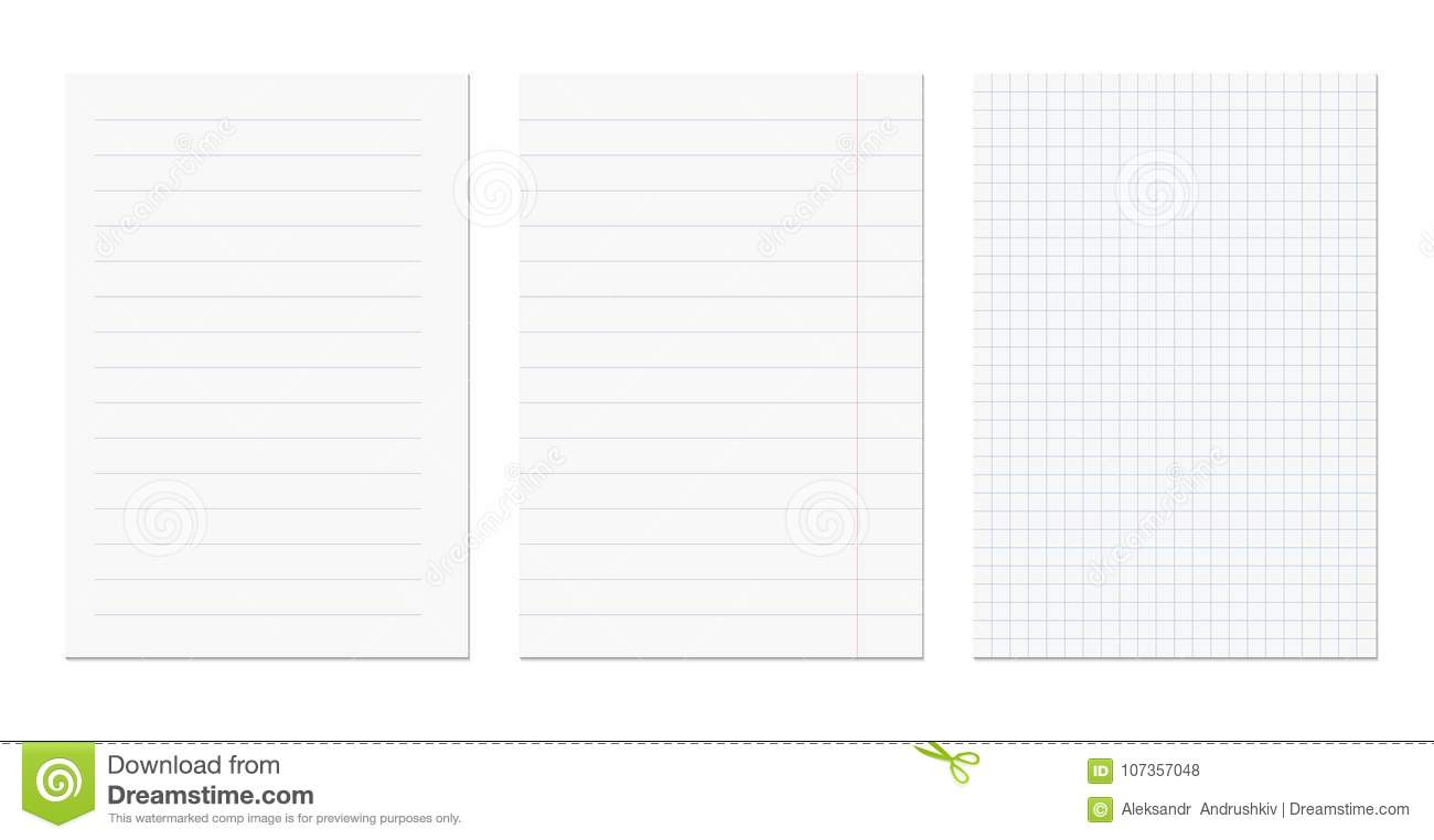 sheets stock vector illustration of notepaper piece 107357048