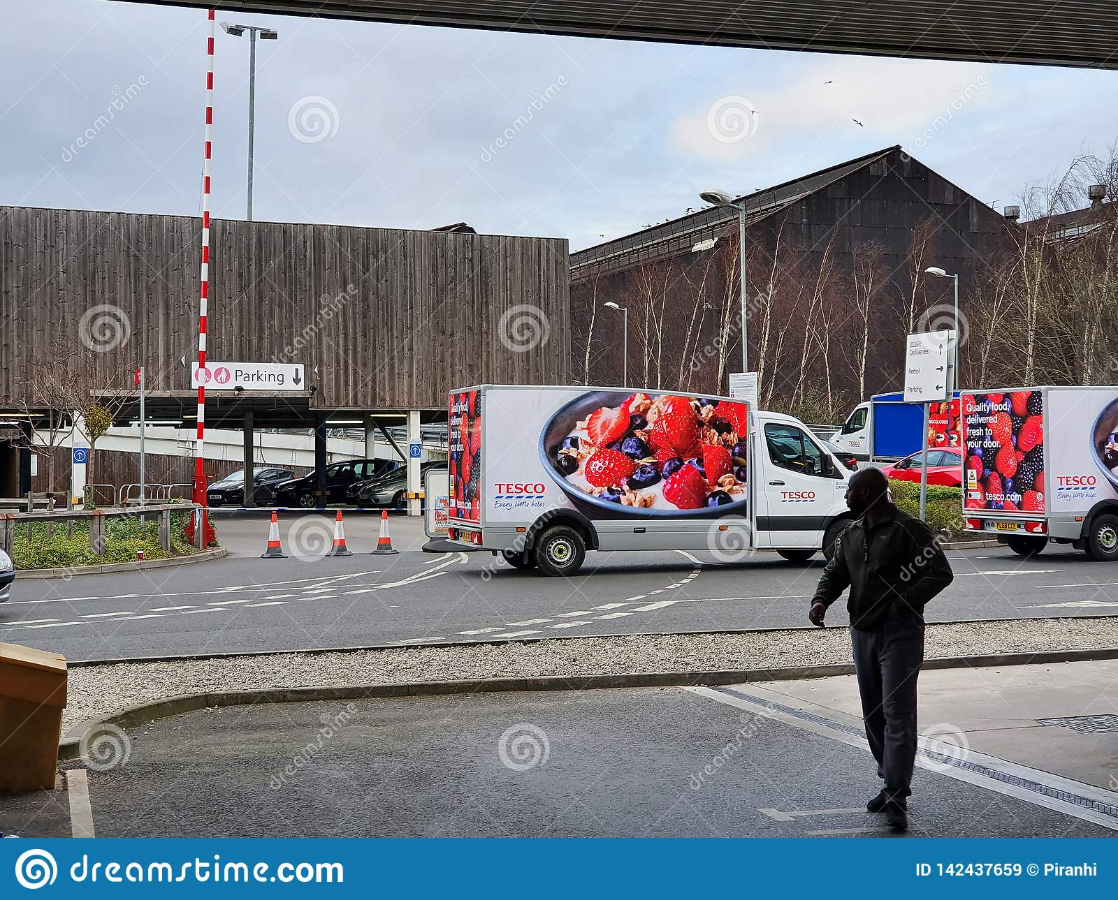 SHEFFIELD, UK - 19TH MARCH 2019: Tesco Extra - Savile Street - is closed by police due to a major incident
