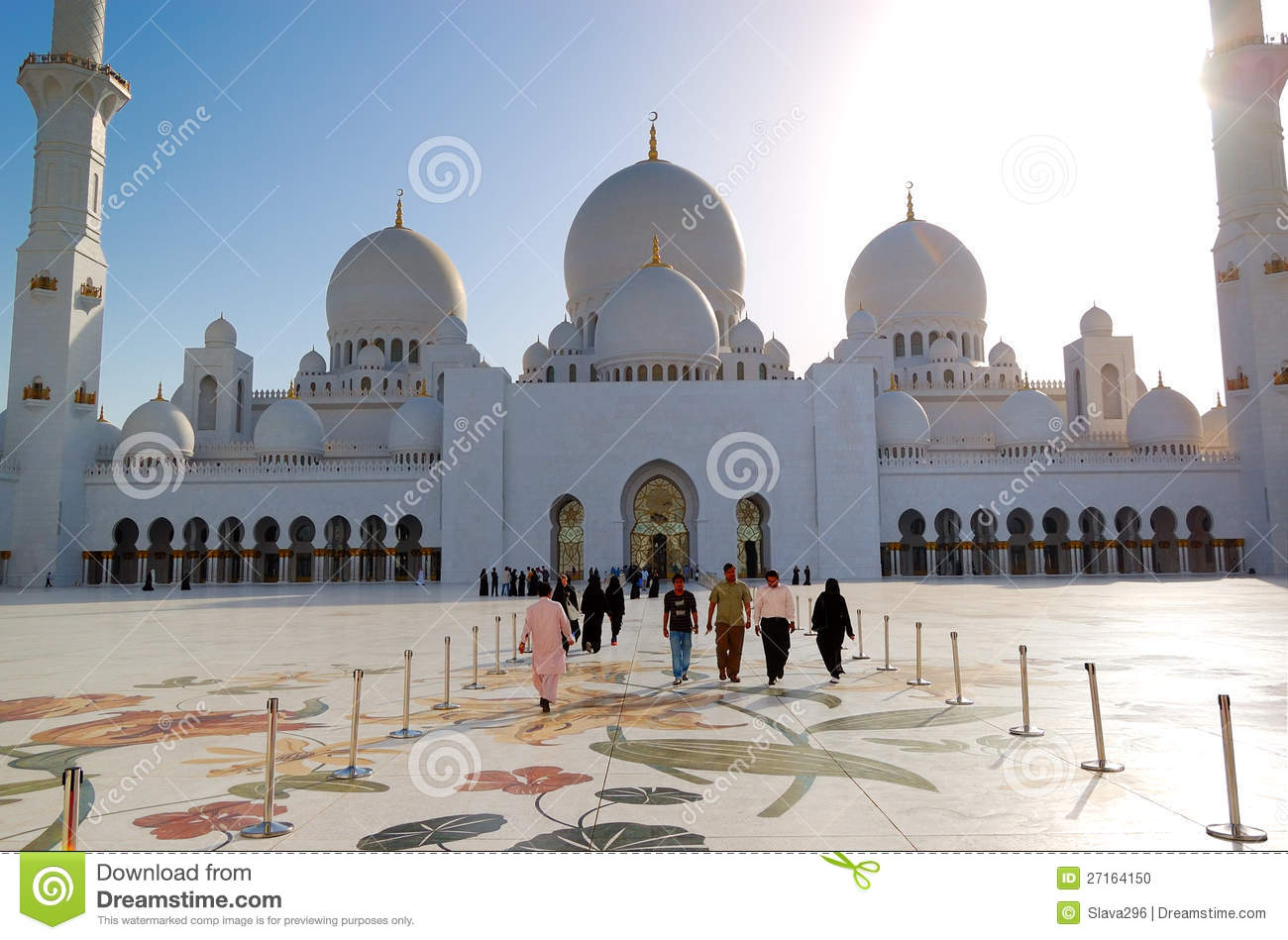 Sheikh Zayed Grand Mosque Dome Editorial Photo