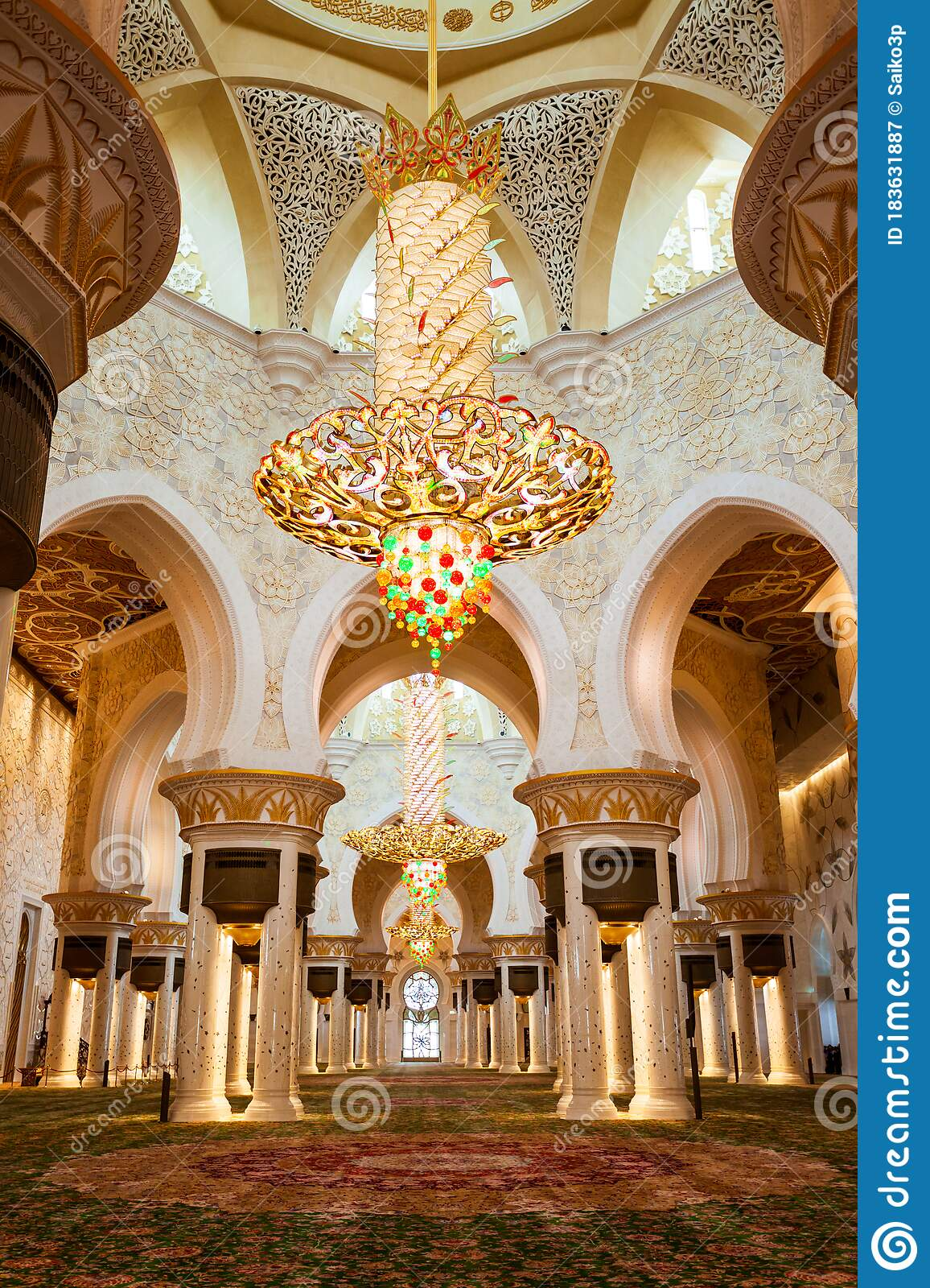 Sheikh Zayed Grand Mosque Interior Editorial Photography Image Of Design Inside 183631887