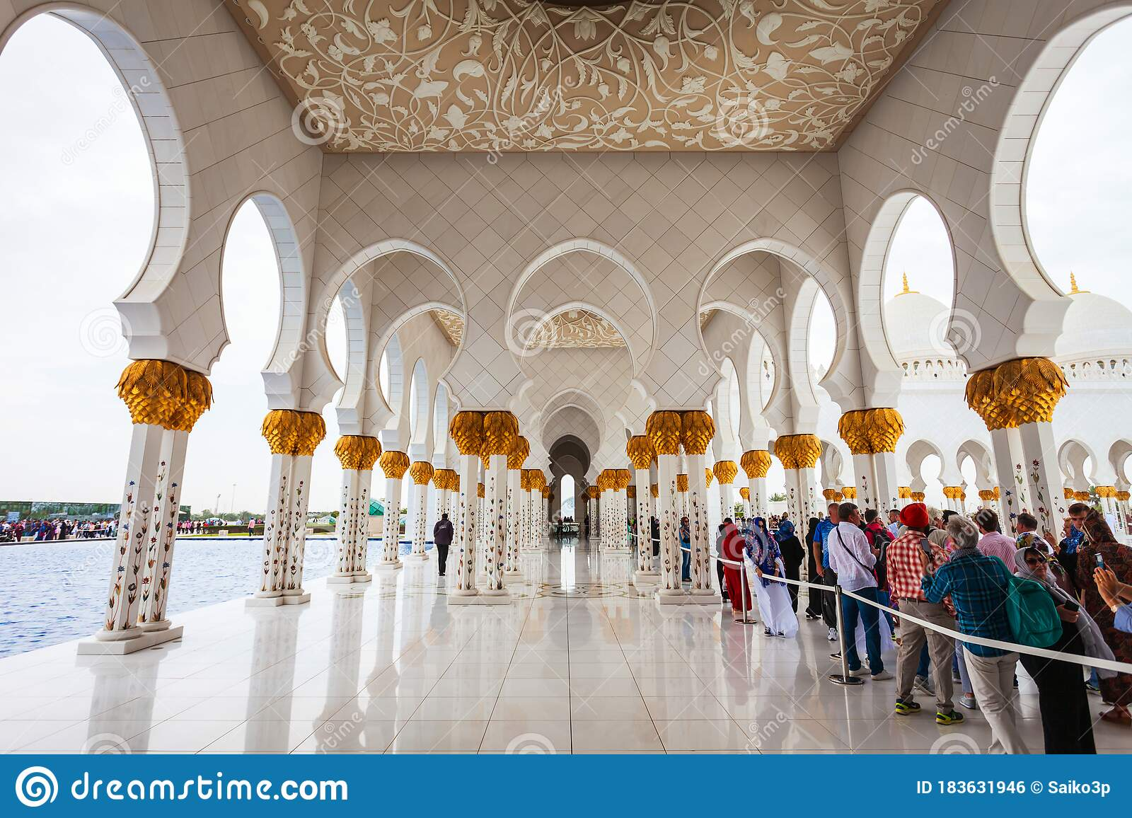 Sheikh Zayed Grand Mosque Interior Editorial Photo Image Of Muslim Culture 183631946