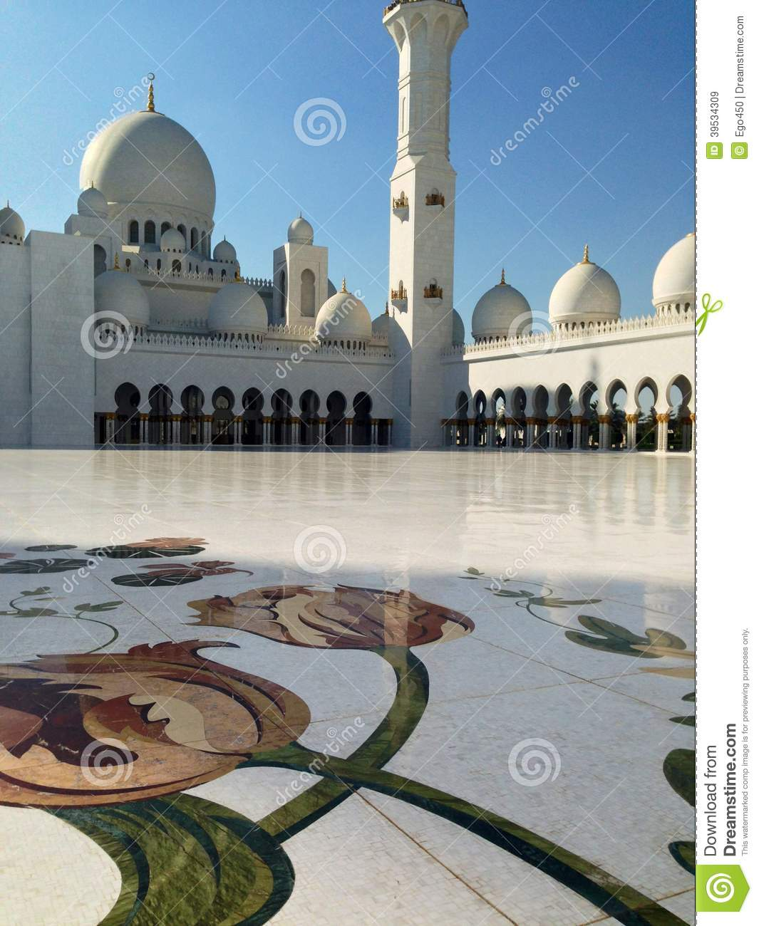 Exterior: Sheikh Zayed Mosque In Abu Dhabi Editorial Stock Image