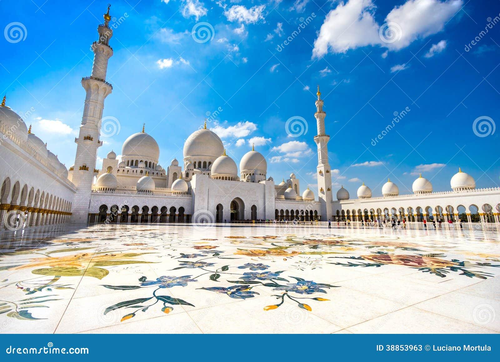 Download Sheikh Zayed Mosque, Abu Dhabi Stock Image - Image of dhabi, eastern: 38853963