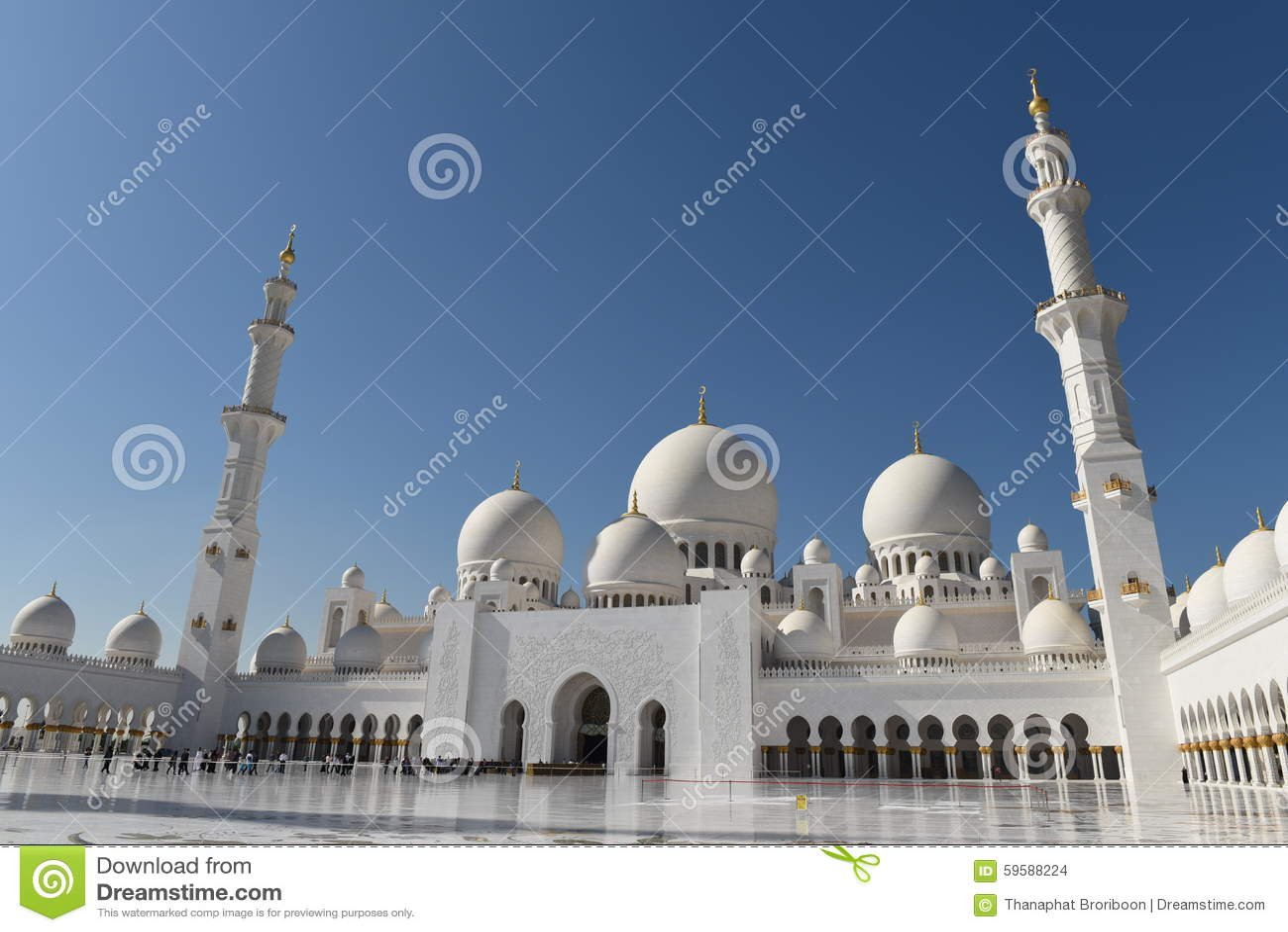 Sheikh Zayed Mosque in Abu Dhabi, Verenigde Arabische Emiraten i, de V.A.E