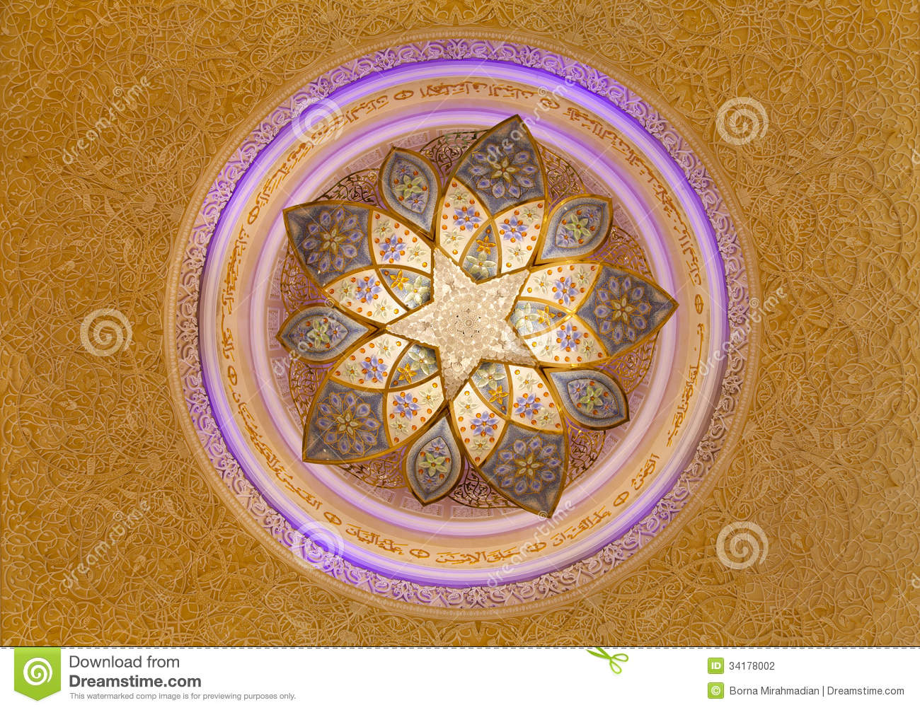 Sheikh zayed mosque chandelier and ceiling decorations for Al manzool decoration abu dhabi