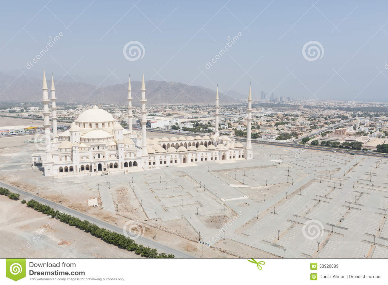 Exterior: The Sheikh Zayed Mosque In Fujairah, Uae Editorial Stock