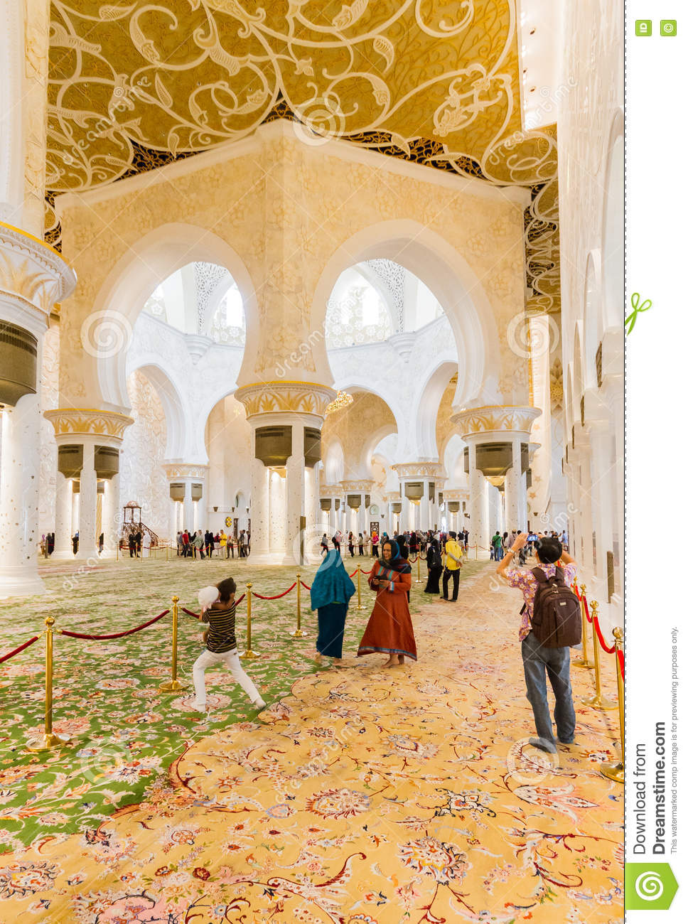 Sheikh Zayed Mosque Interior With Arabic Geometry Decoration The Great Marble Grand Mosque At Abu Dhabi Uae Editorial Photography Image Of Grand Decorated 75697222