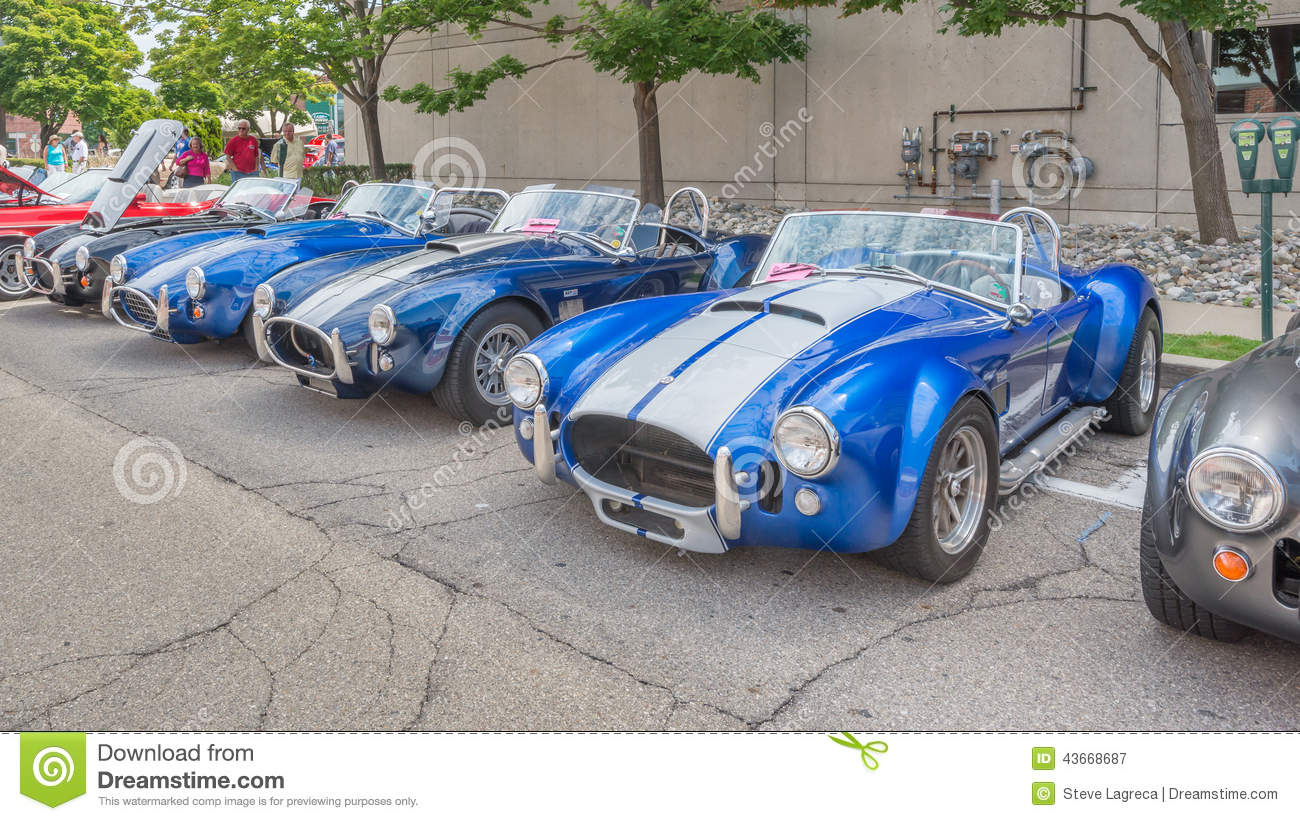Shelby Ac Cobra Cars At The Woodward Dream Cruise Editorial