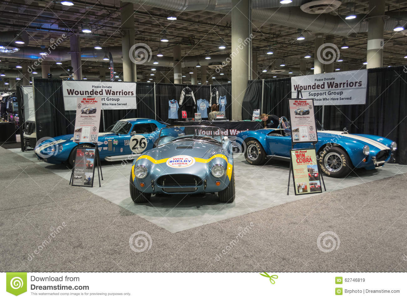 Shelby cobra stand editorial stock image image of for Dream motors los angeles