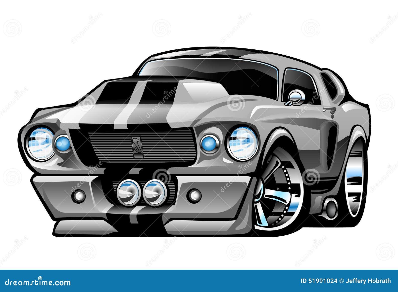67 Shelby Mustang Cartoon Vektor Abbildung Bild 51991024