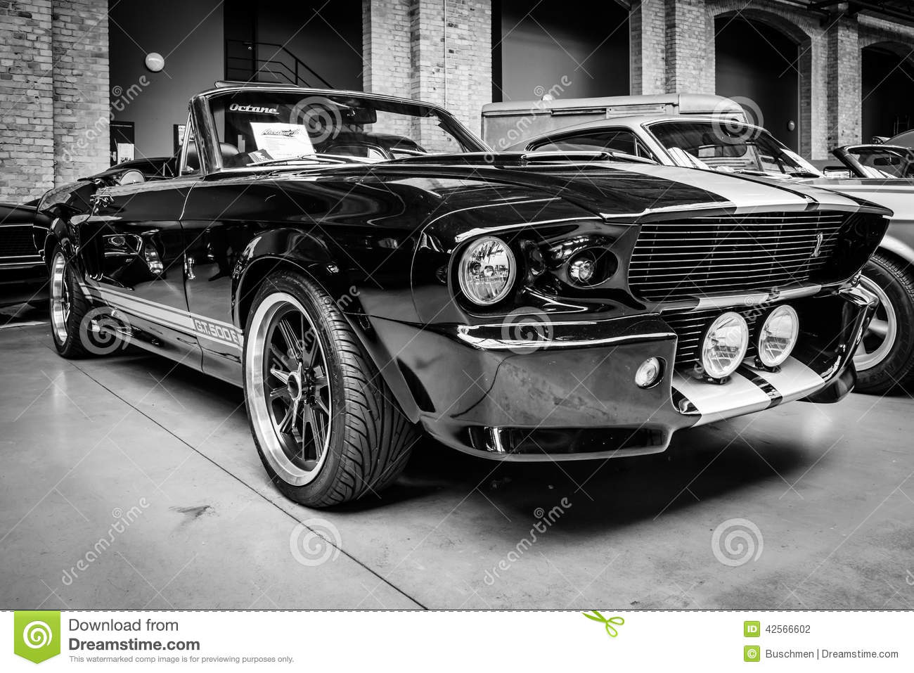 Shelby Mustang Gt500 Cabrio Eleanore Editorial Photography