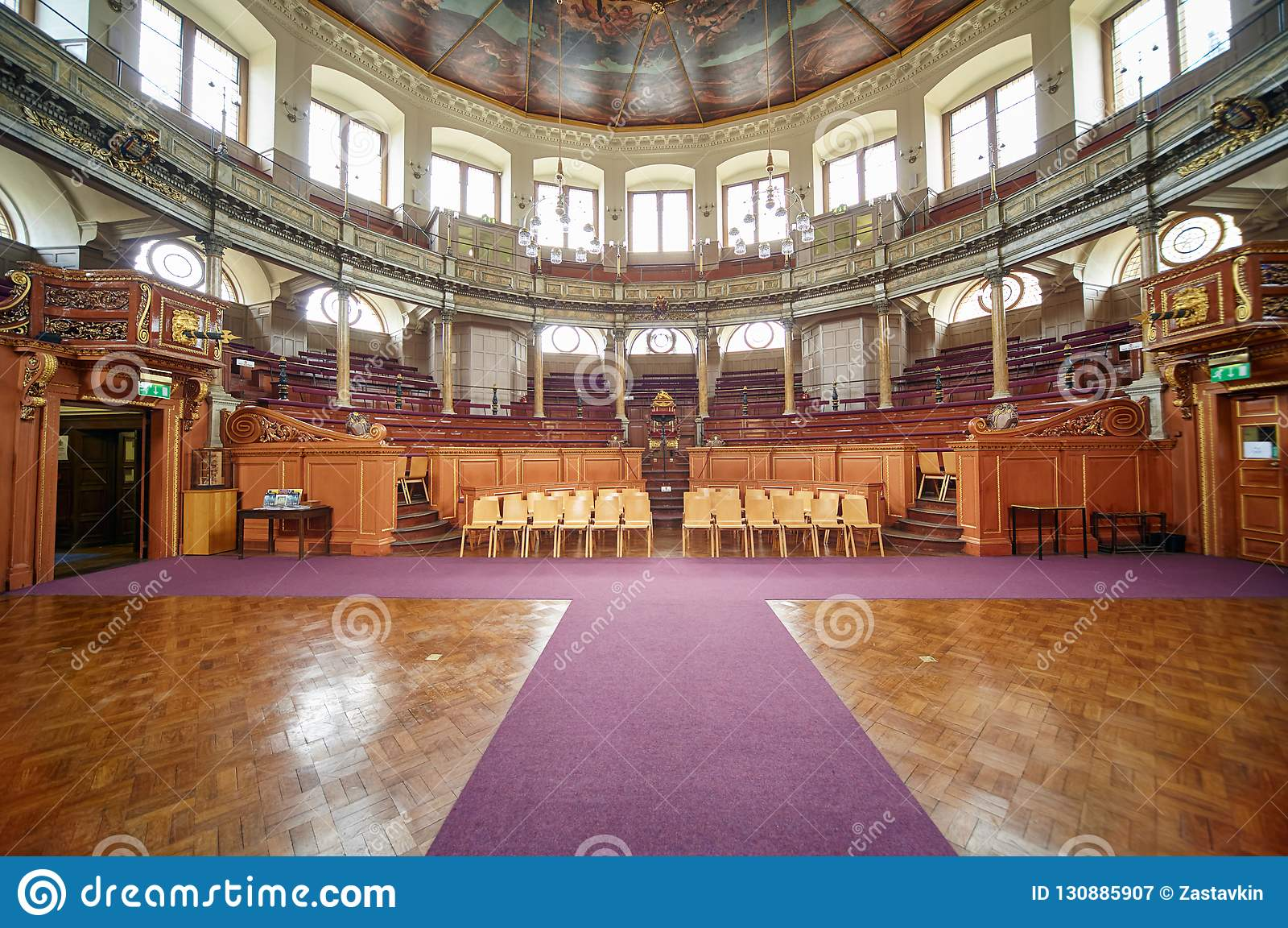Sheldonian Theatre wnętrze uniwersytet w oksfordzie oxford england