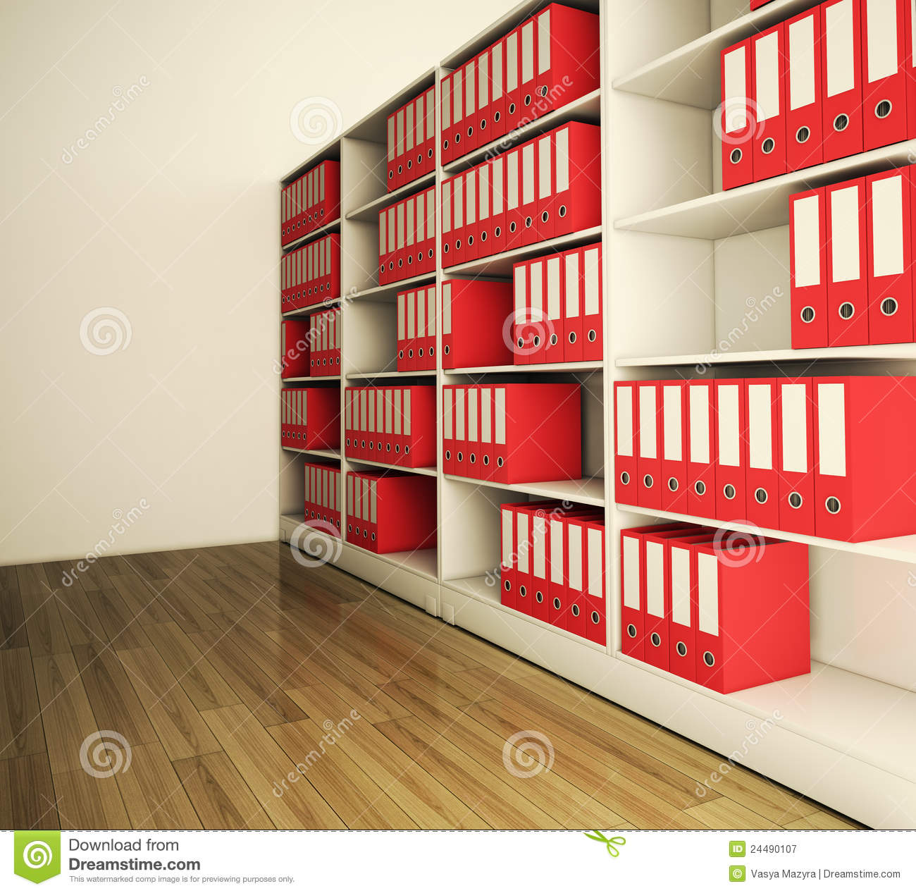 shelf archive folder stock illustration  illustration of