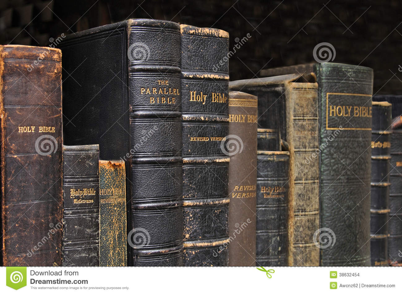 Shelf of Bibles stock photo  Image of shelf, nostalgia - 38632454