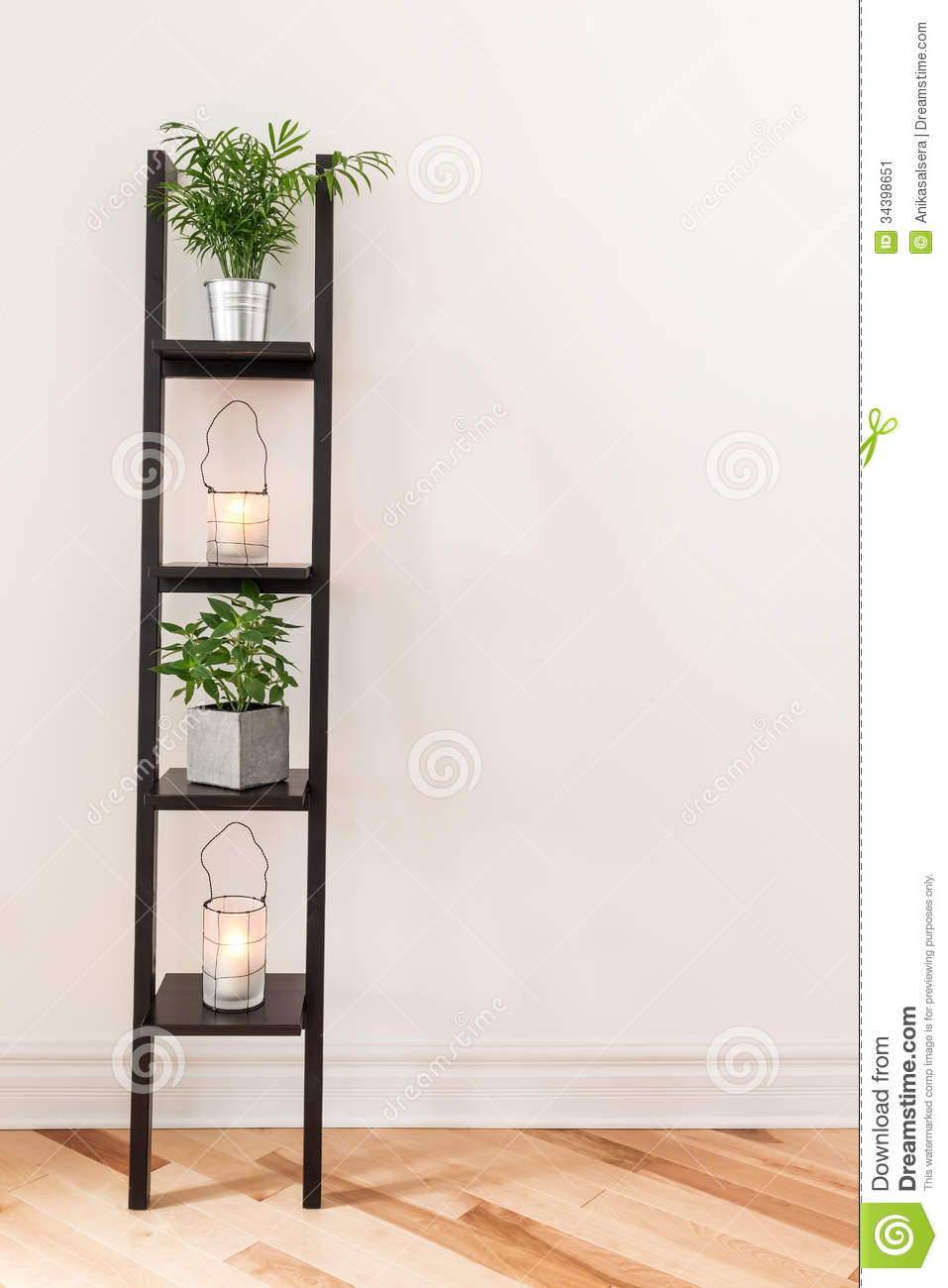 Shelf with plants and lanterns royalty free stock photo Plant room design