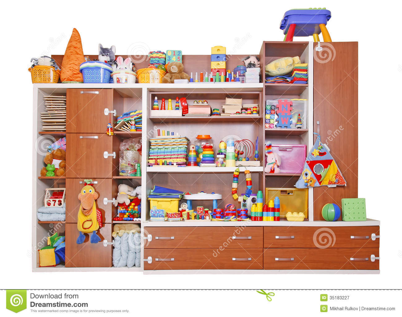 Shelf With Toys Royalty Free Stock Photography Image