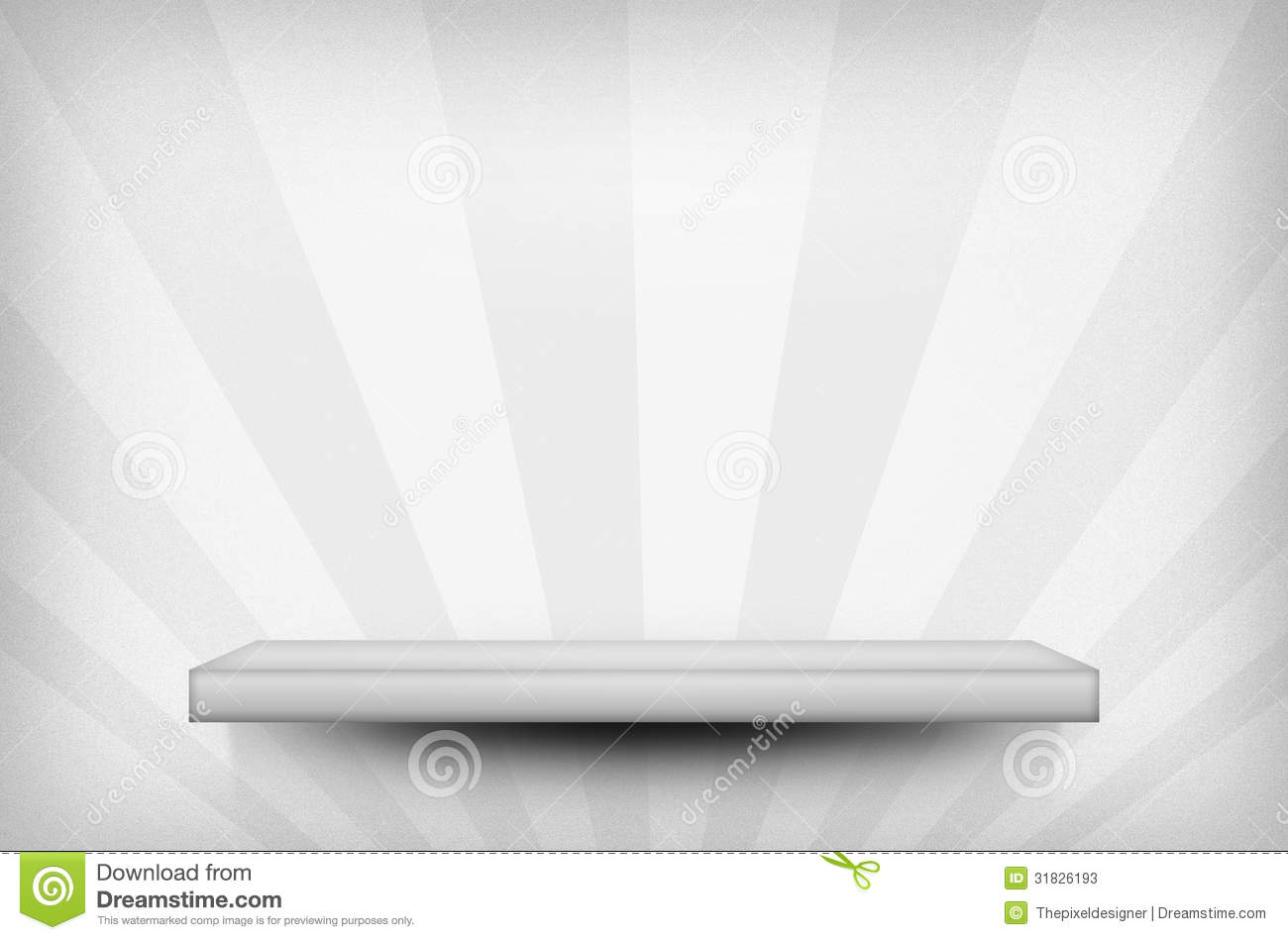 Shelf On The Wall White Texture Stock Illustration Image