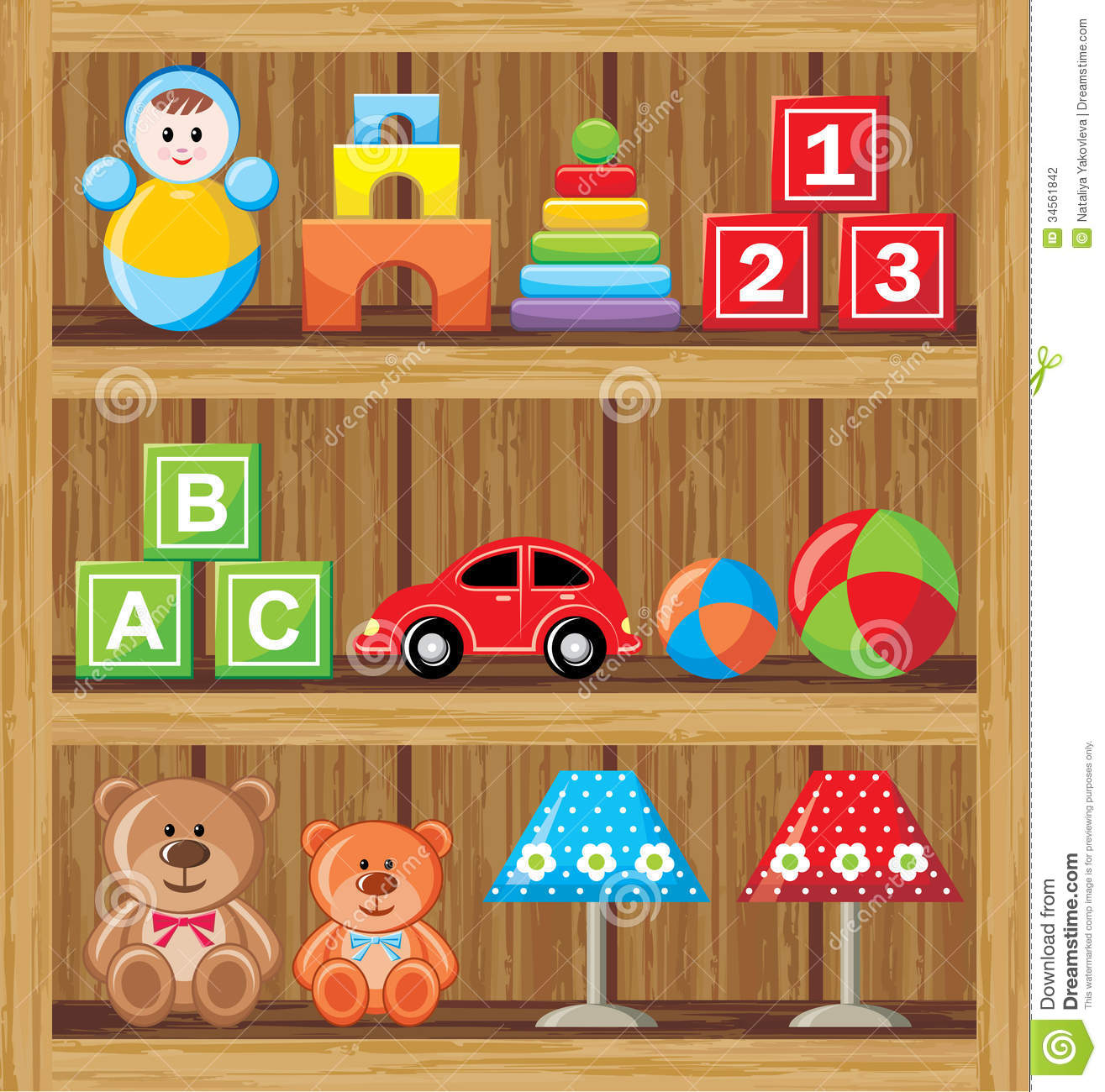 Shelfs With Toys Stock Photography - Image: 34561842