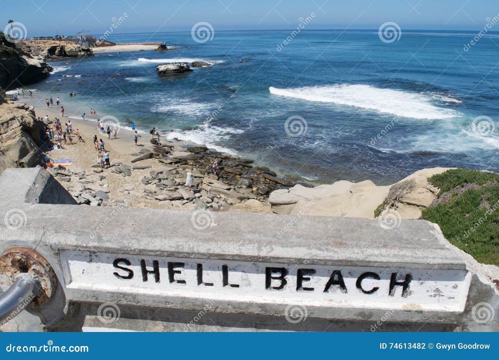 Shell Beach, La Jolla, Californië