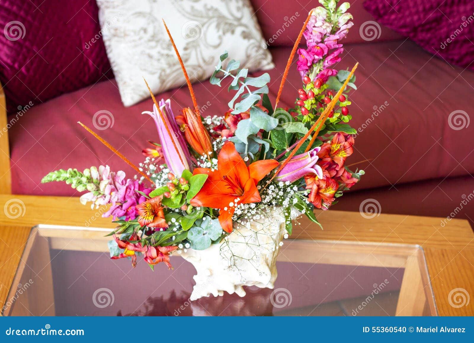 Shell Centerpiece con i fiori