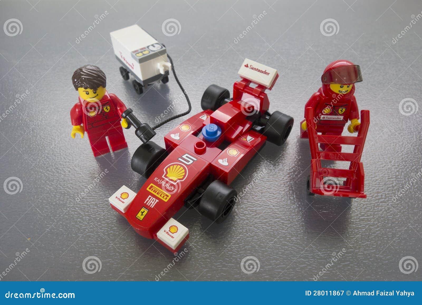 Shell Ferrari Lego toys editorial photography  Image of