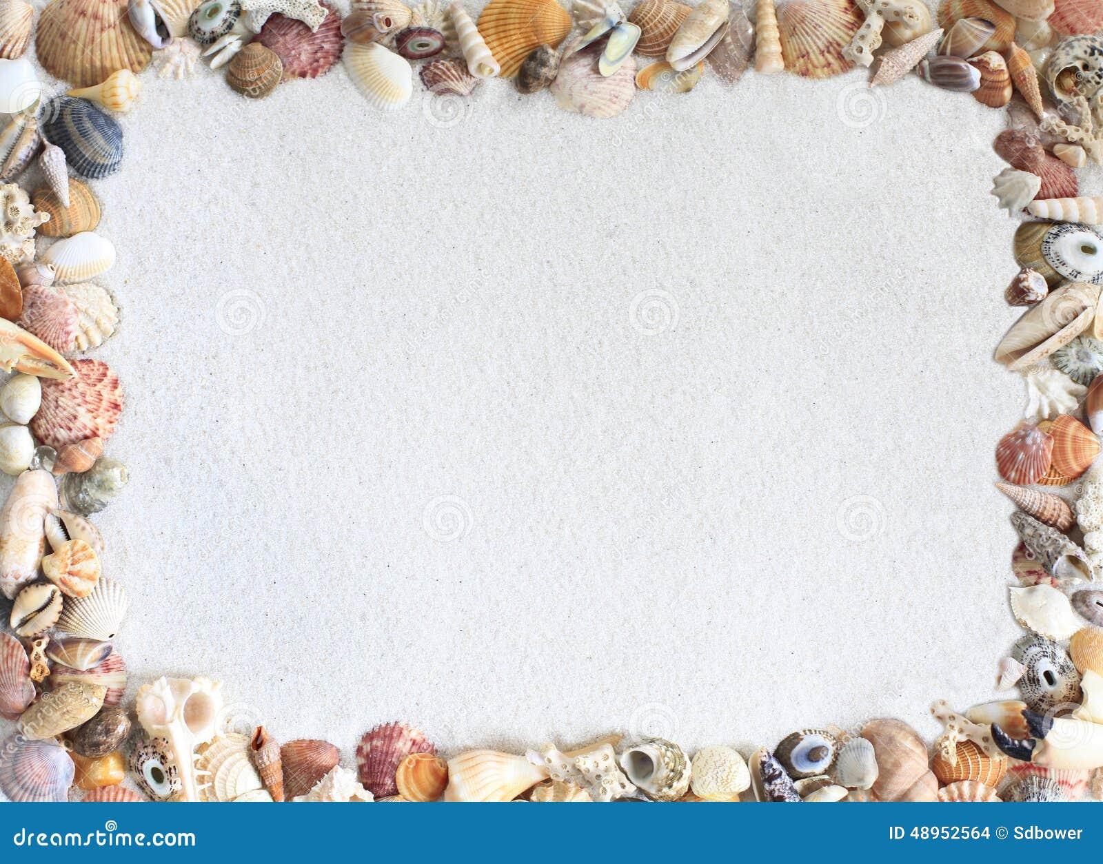 Shell Frame dans le sable