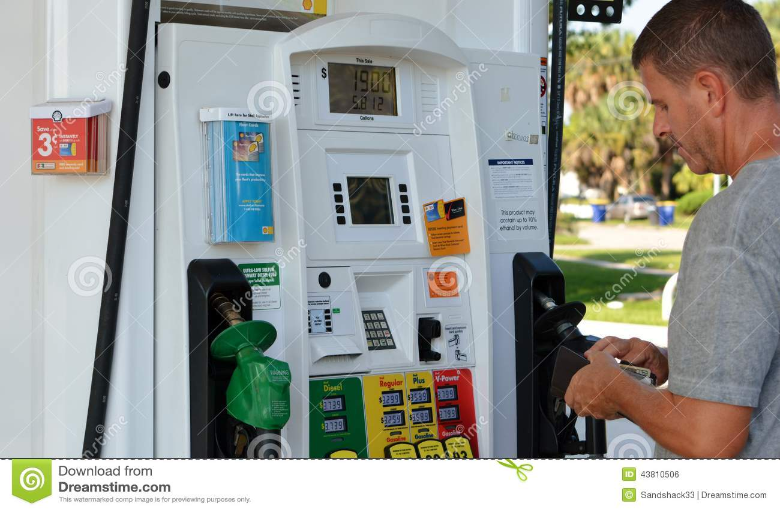 Shell Fuel Dispenser Gas Pumps Editorial Photo Image