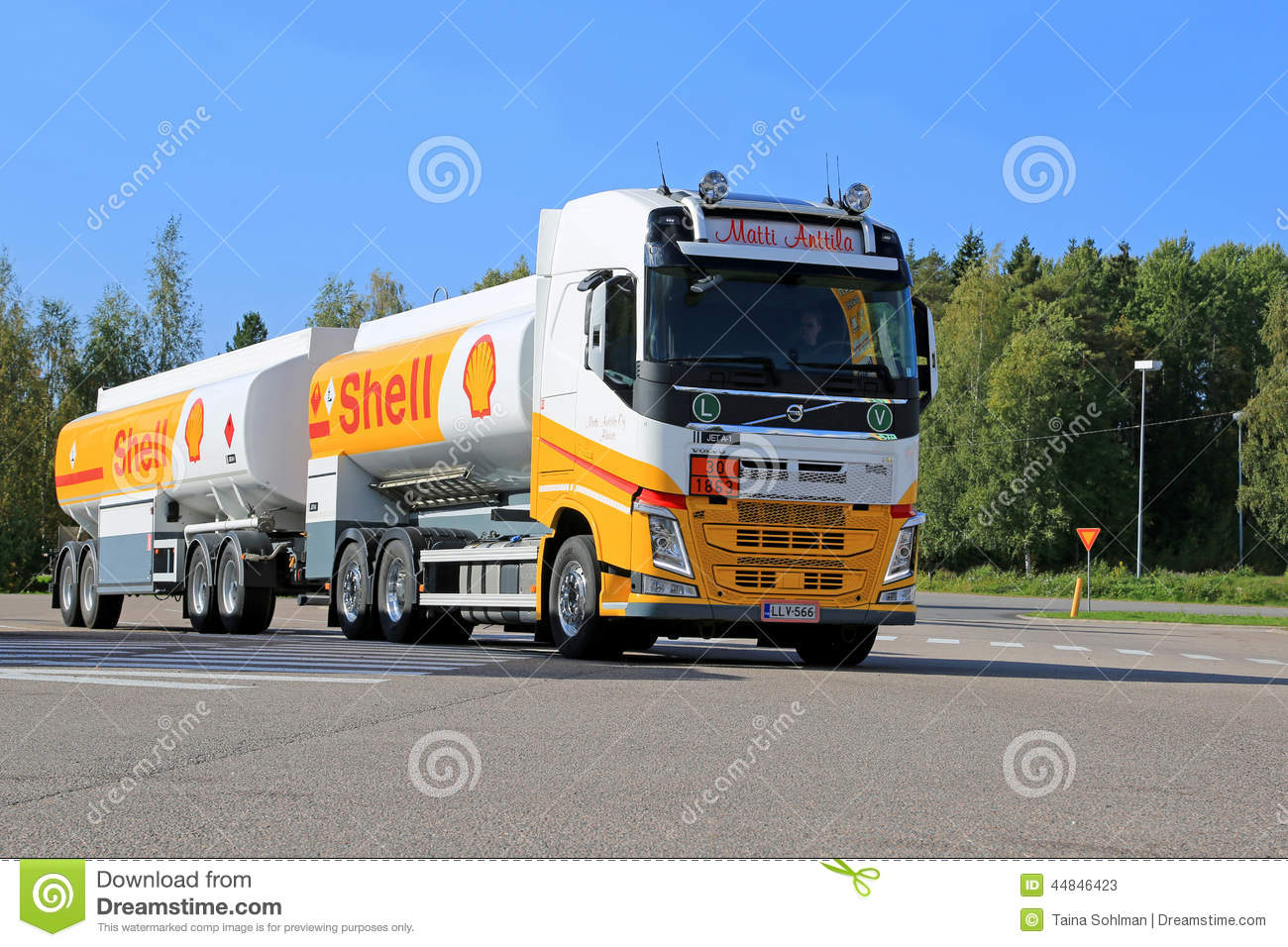 Shell Fuel Truck Editorial Stock Photo Image Of Flammable