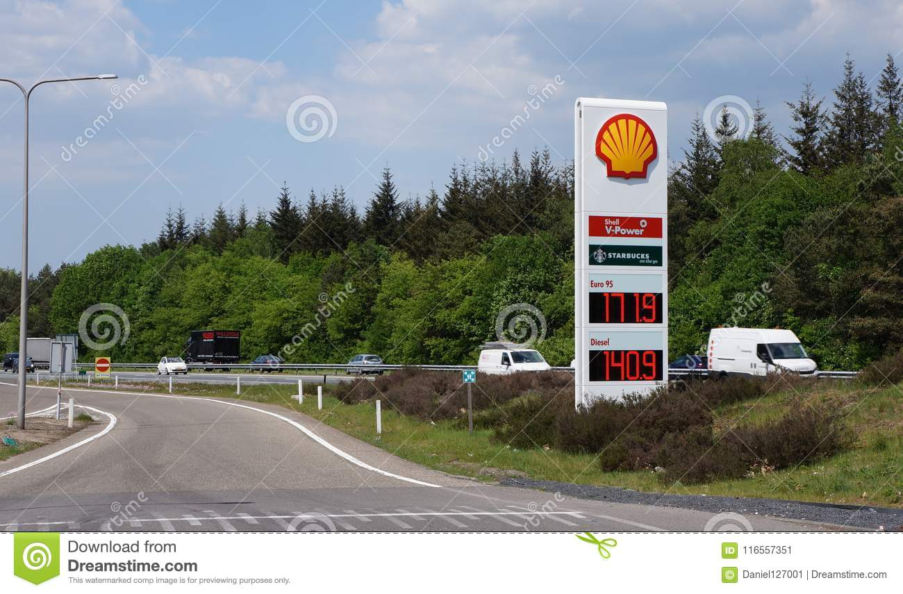 Shell gas station in the Netherlands