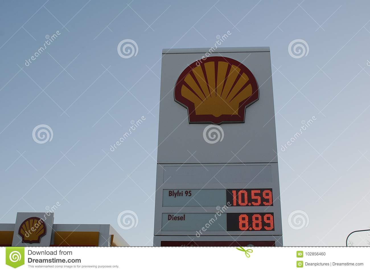 Shell Gasoline Station Editorial Image Image Of Editorial 102856460