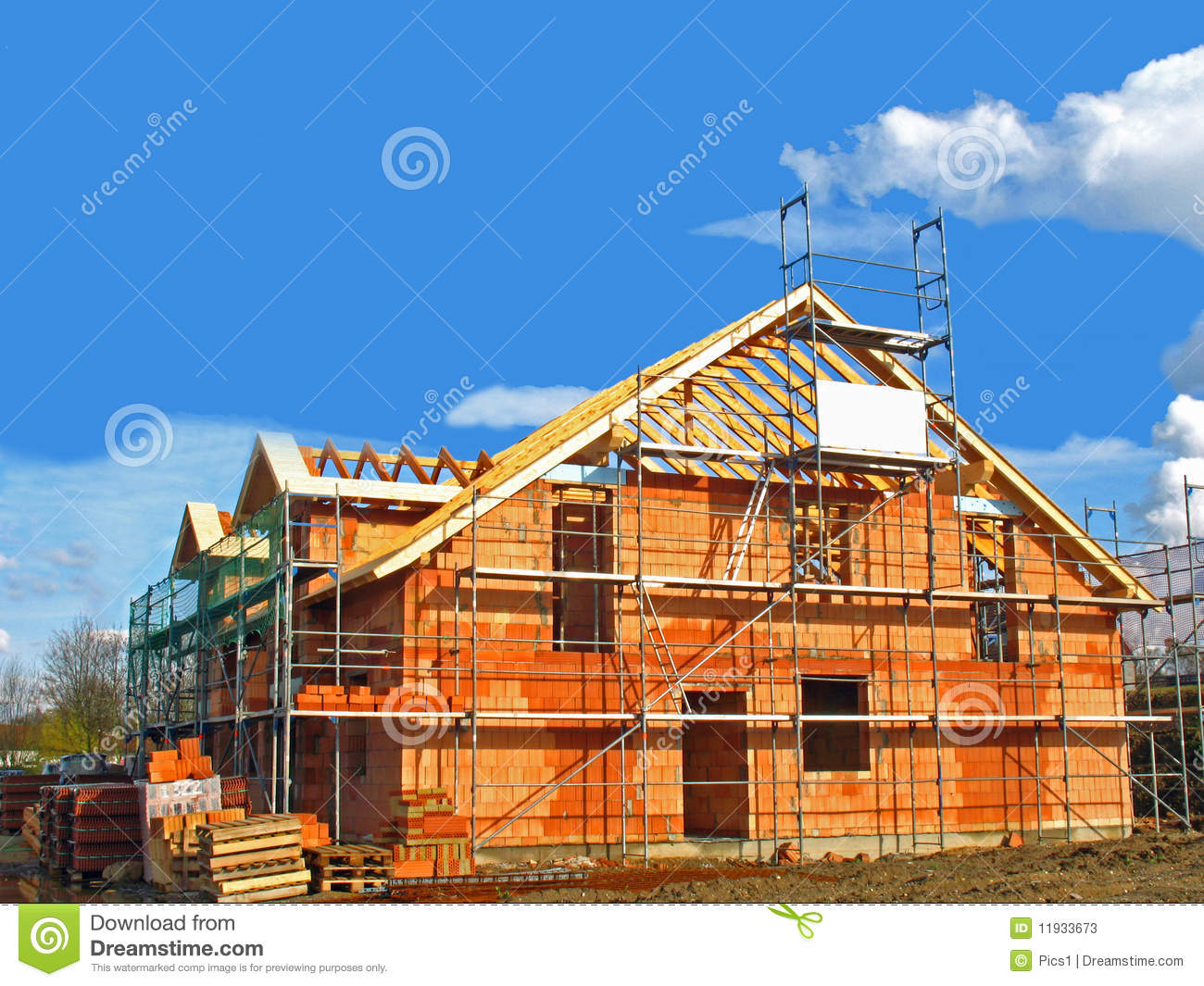 Shell of a house stock photos image 11933673 for House shell cost