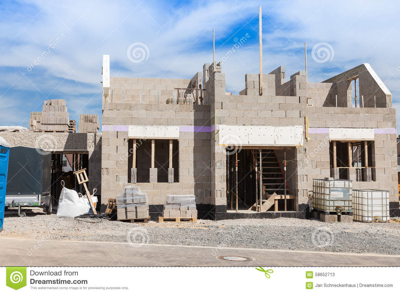 Shell of a house stock photo image 58652713 for House shell cost