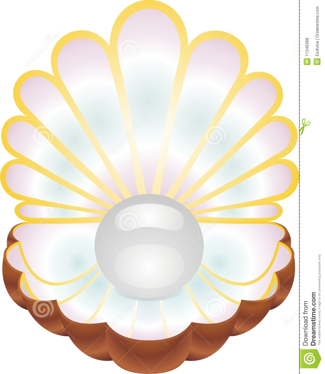 A Shell With A Pearl Inside Royalty Free Stock Photos ...