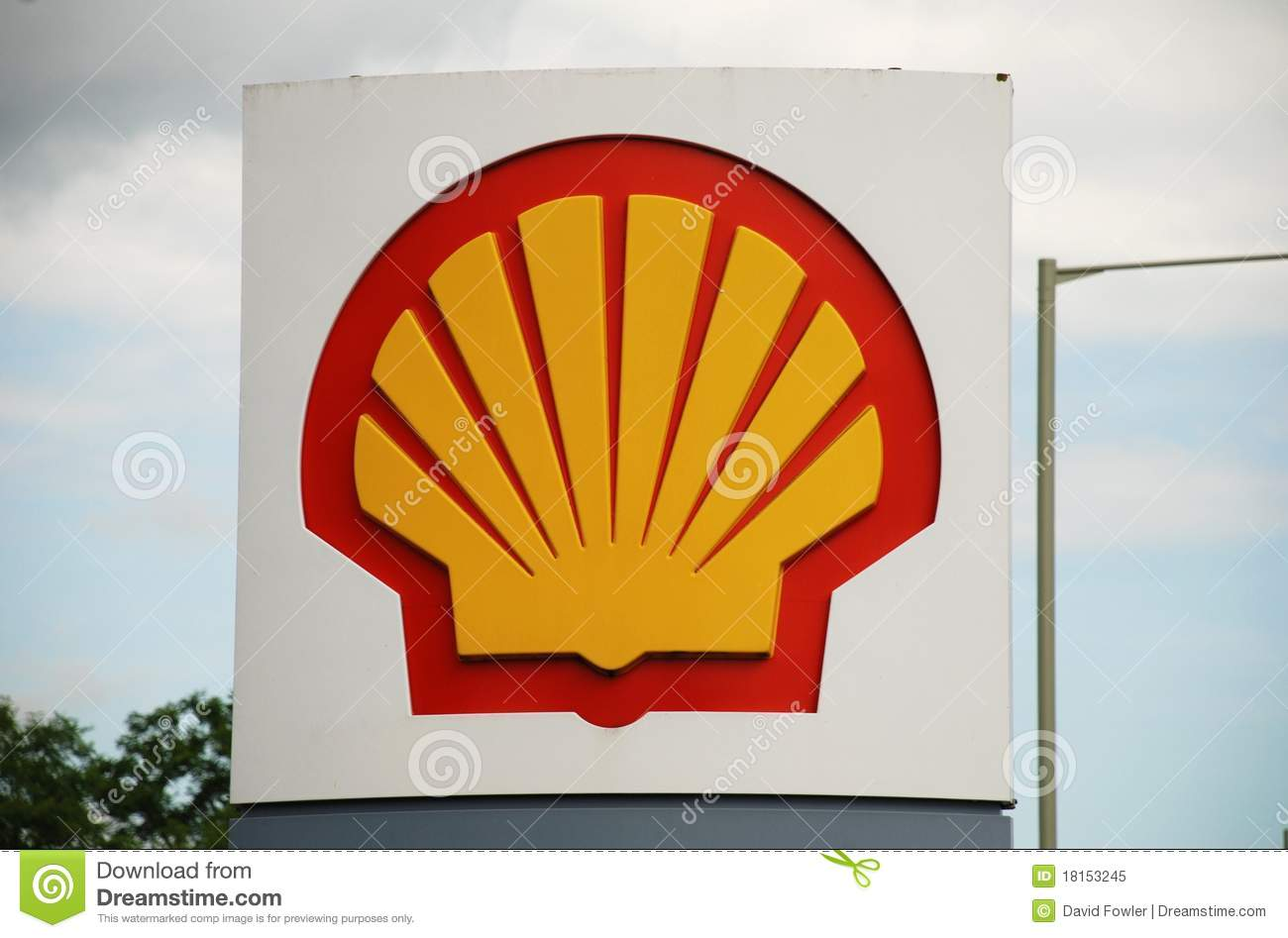 Shell petrol filling station