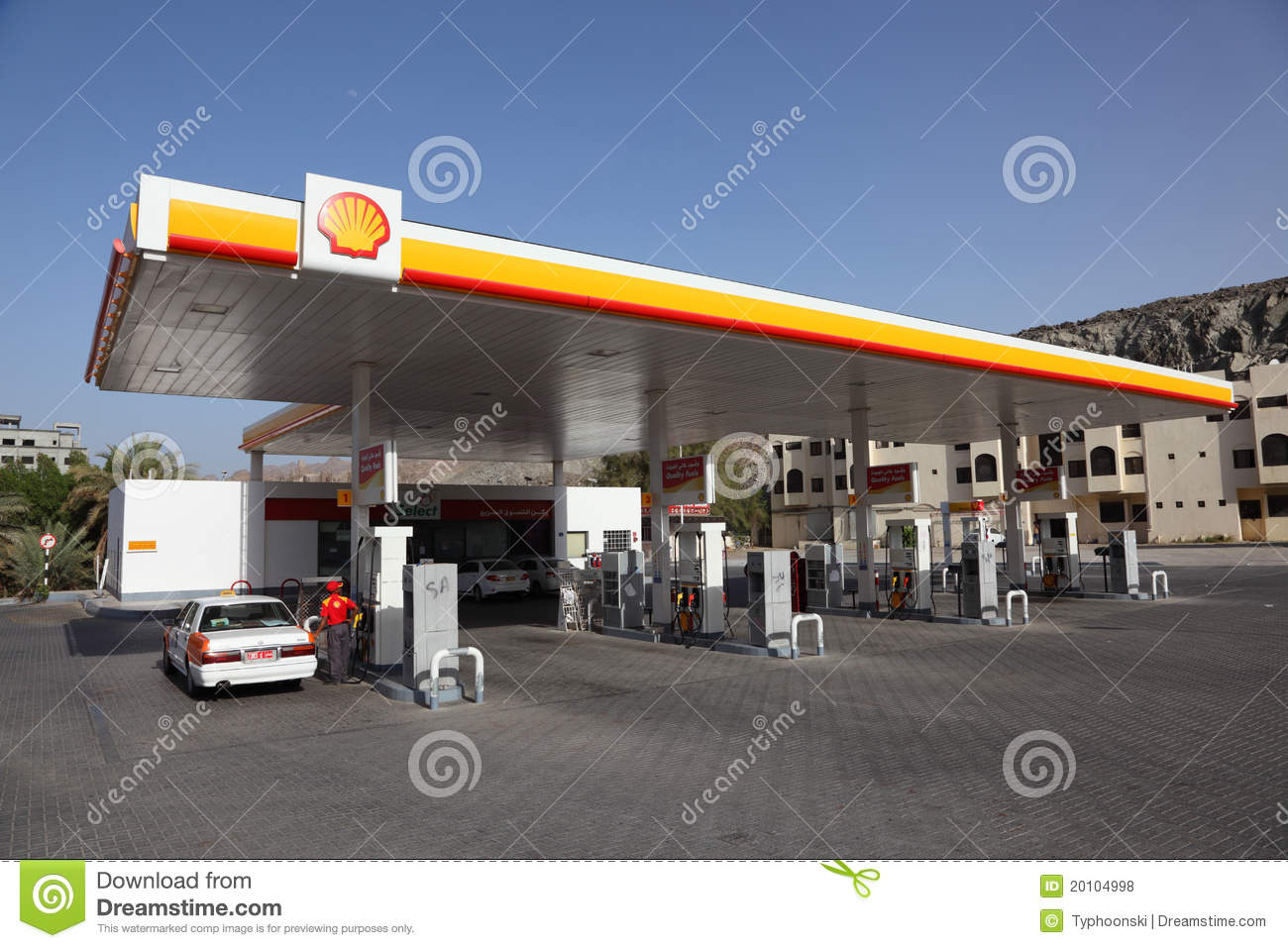 Shell petrol station in Muscat Oman