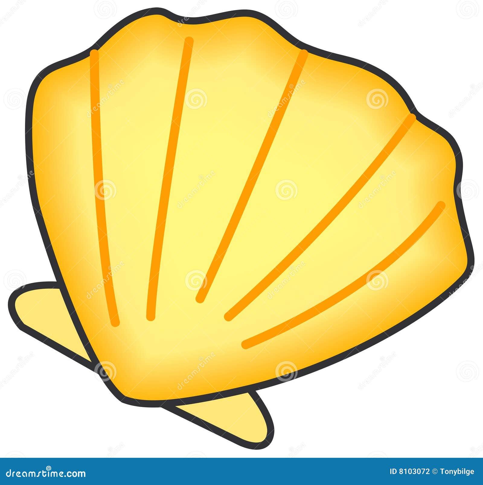 Shell van tweekleppig schelpdier.