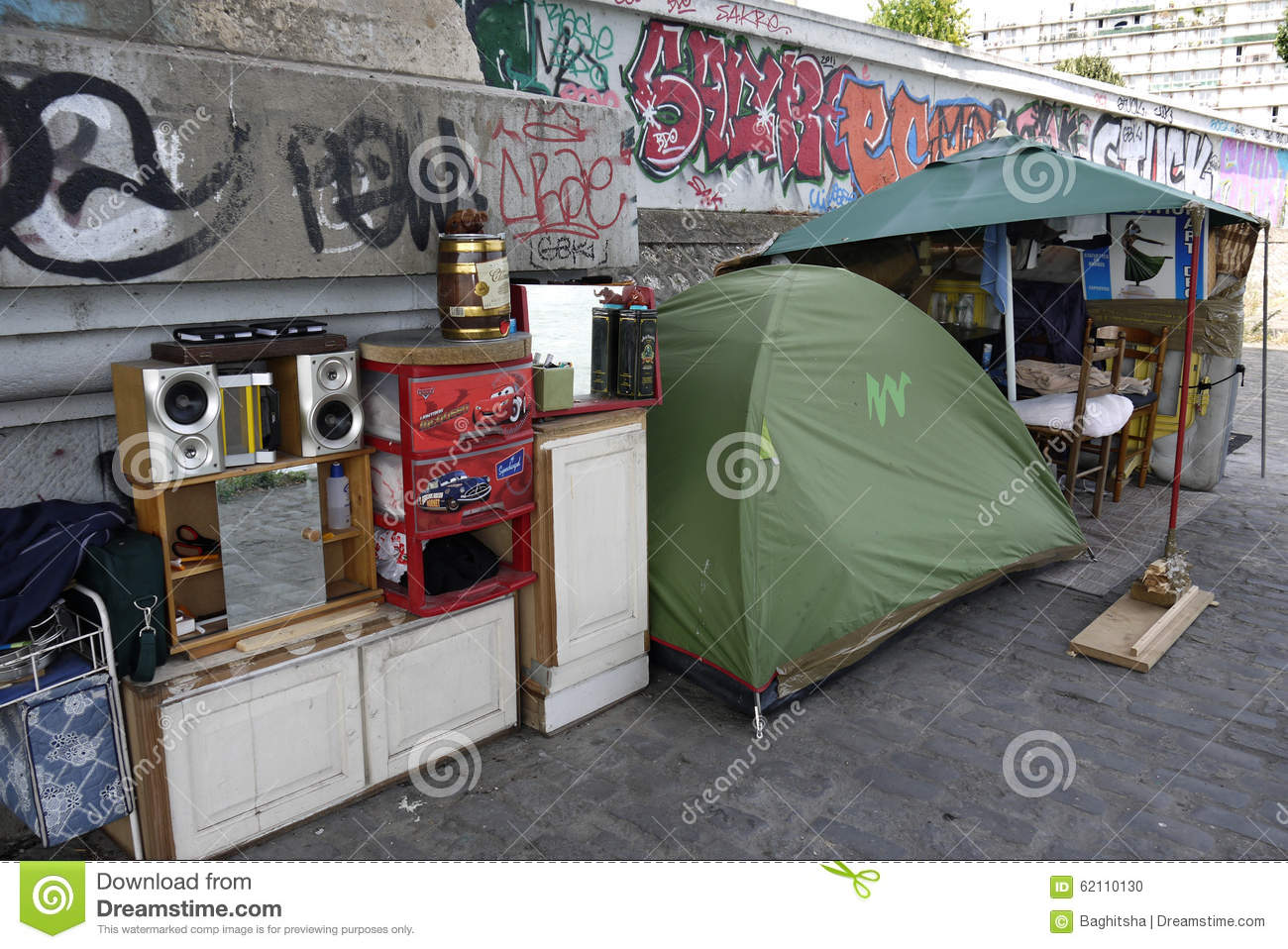 Shelter of a Homeless Person, France