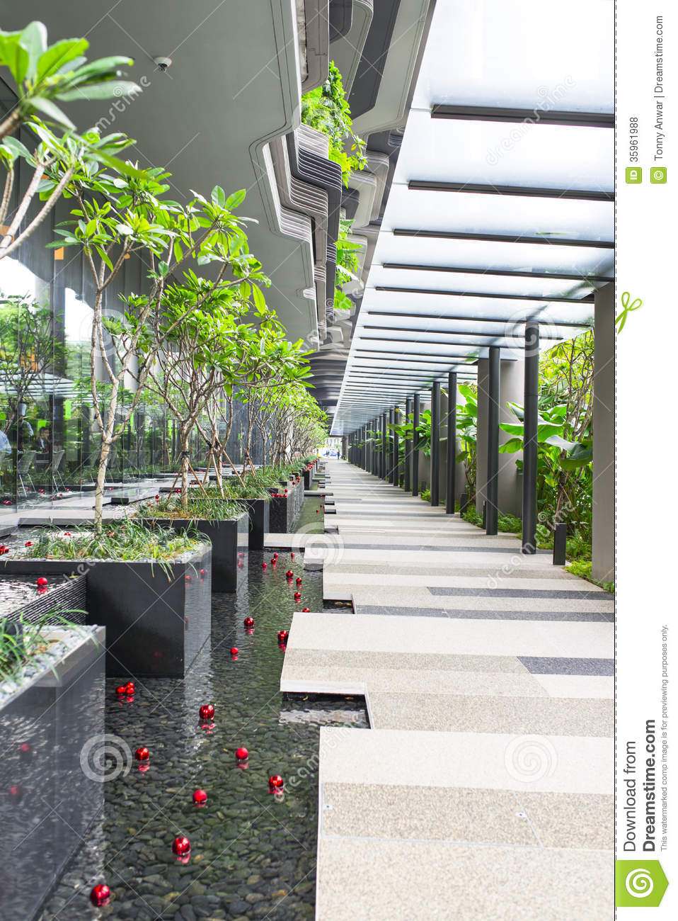 Sheltered Walkway Royalty Free Stock Photos Image 35961988