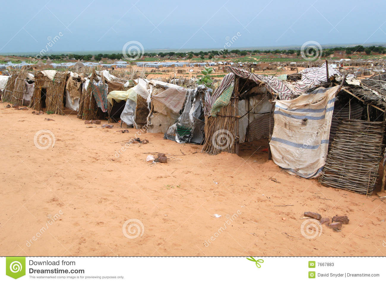 Shelters in Darfur