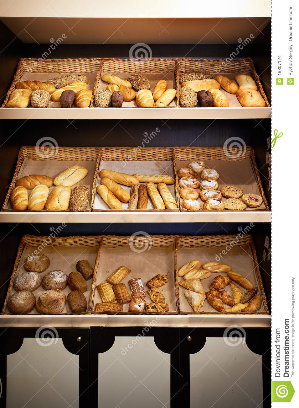 Shelves With Bread At Store Stock Images Image 19307124