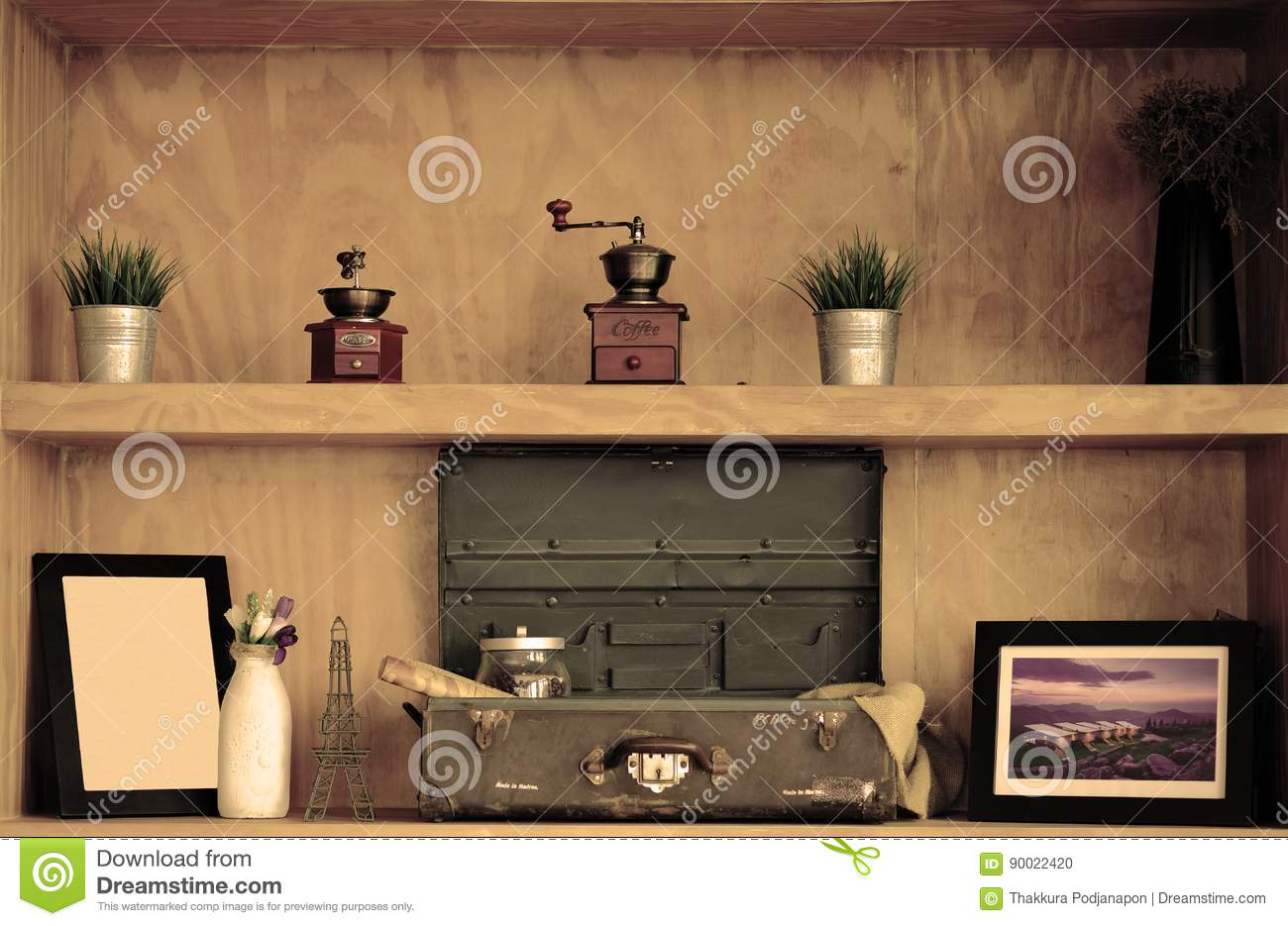 Shelves In The Coffee Shop Editorial Image Image Of Frame